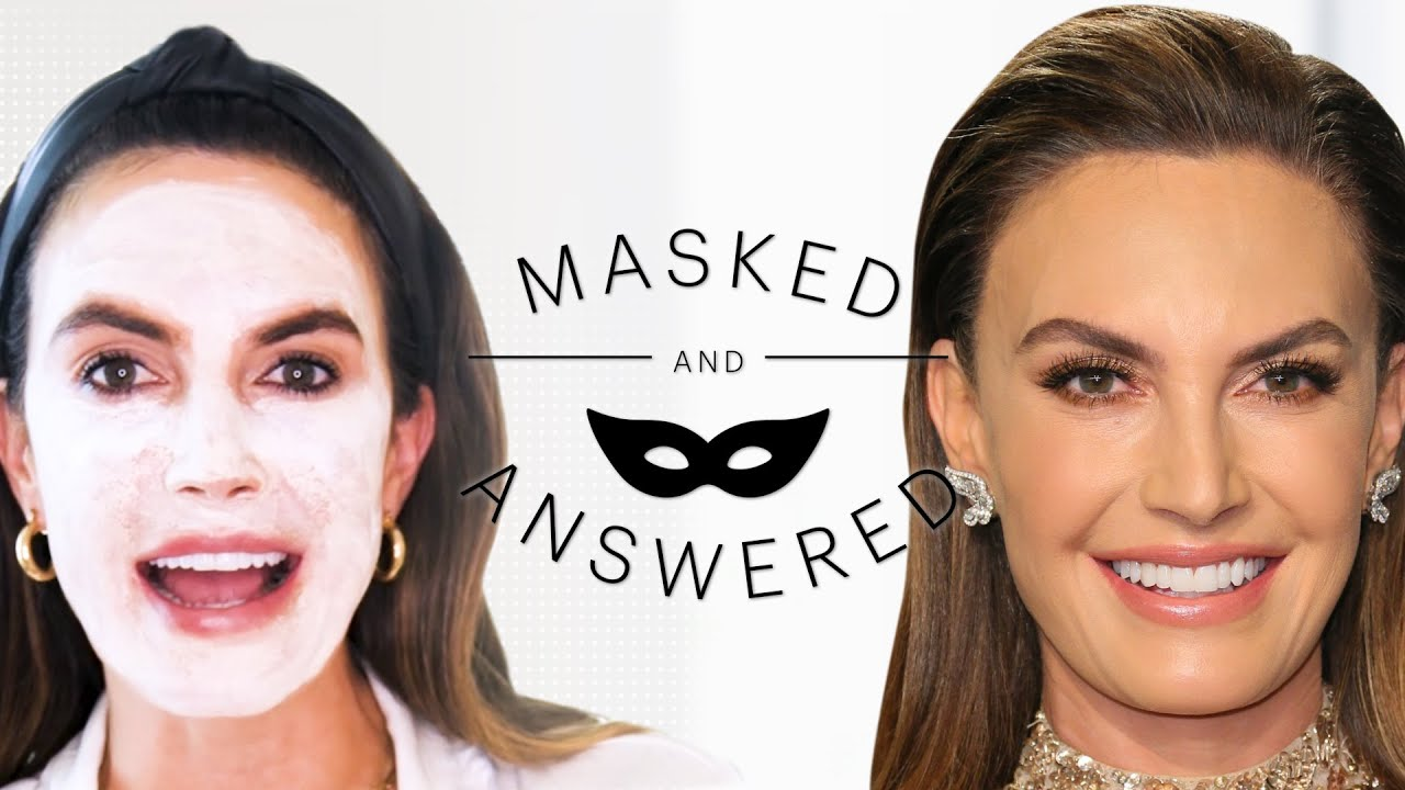 Elizabeth Chambers' Cure for Post-Pregnancy Skin Problems | Masked And Answered | Marie Claire