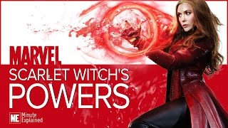 What are scarlet witch's powers? (mcu)