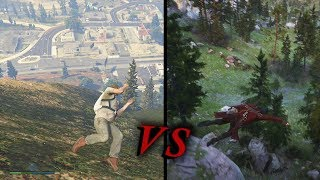 RDR 2 VS GTA 5 - Combat Animations - Ragdoll Physics & Gameplay Comparison