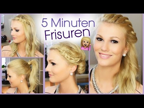5 minuten frisuren f r schule uni alltag youtube. Black Bedroom Furniture Sets. Home Design Ideas