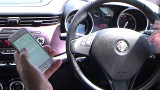 Syncing an iPhone to the Blue & Me system in an Alfa Romeo Giulietta 2.0 JTDM-2 Veloce 5dr