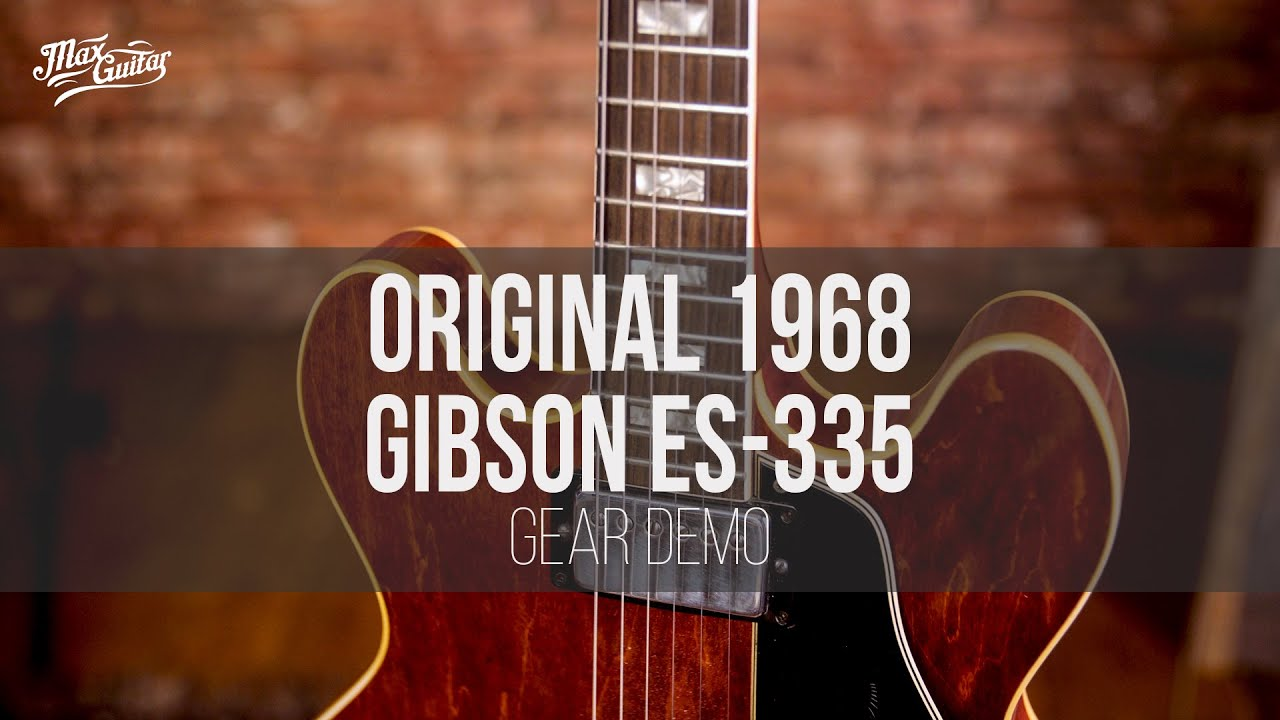 ORIGINAL 1968 Gibson ES-335 gear demo