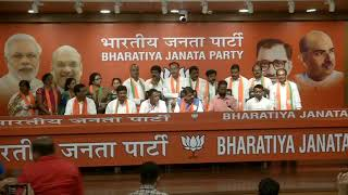 Some Eminent personalities #JoinBJP at BJP HQ in New Delhi. : 18.06.2019