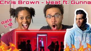 Chris Brown - Heat ( Official Video) ft. Gunna REACTION!!