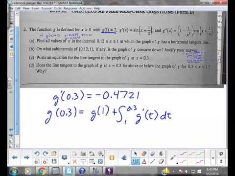 AP Calculus AB 2010 Free Response Question 2 Form B Juda Math
