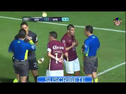 Veracruz VS America 2016 Jornada 4| Goles y Rojas