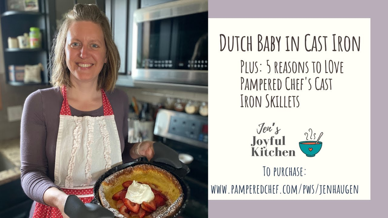 Fast & Healthy: Dutch Baby in the Pampered Chef Cast Iron ...