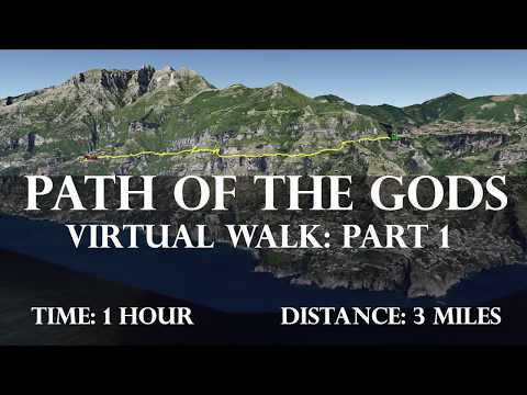 Path of the Gods Virtual Treadmill Walk: East to West