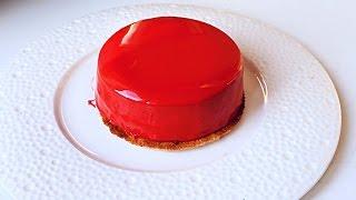 как сделать красную глазурь для торта