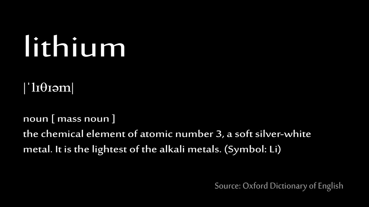 03 Lithium How To Pronounce Chemical Elements Periodic Table