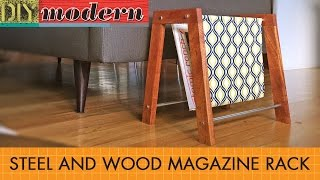 How to make a modern Magazine Rack