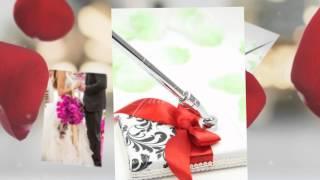 Свадебная ручка с подставкой Gilliann Red Rose PEN011