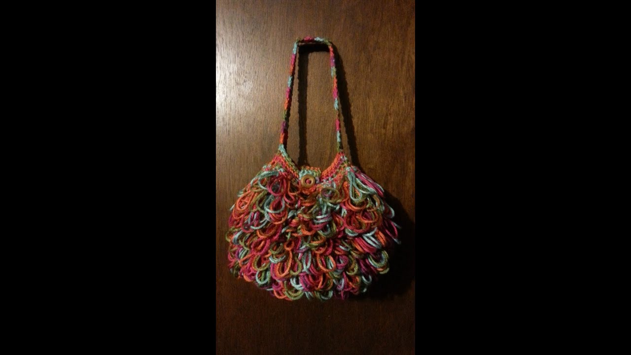 CROCHET How To #Crochet Bag loopy #handbag #purse DIY ...