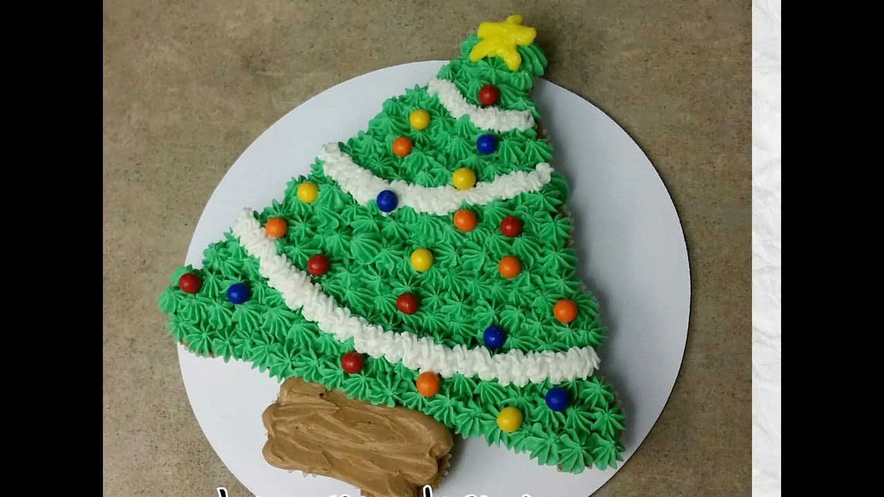 Christmas Tree Pull Apart Cupcake Cake Cake Decor Youtube