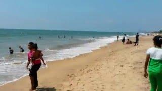 Locals at the beach in Mount Lavinia, Sri Lanka