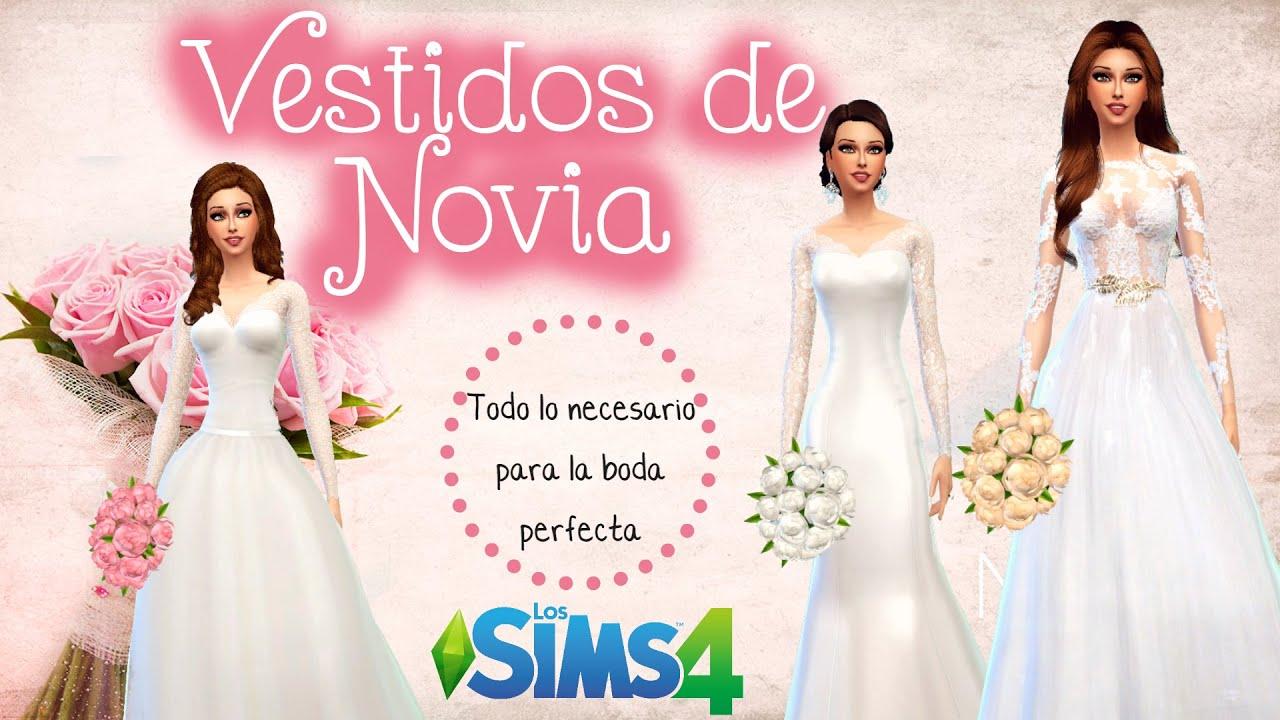 Descarga vestidos de novia y accesorios - Los Sims 4 - YouTube