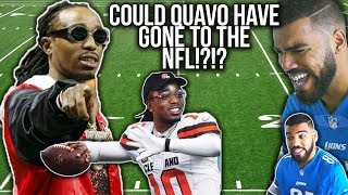 Quavo Was A RECORD SETTING Quarterback In High School!!! Quavo Football Highlights [Reaction]