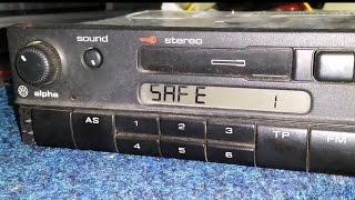 VW ALPHA CC BLAUPUNKT radio код VWZ1Z1
