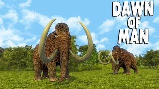 DAWN OF MAN - Ep. 04 -  ENTIRE VILLAGE HUNTS MAMMOTH | Prehistoric City Building Survival Gameplay