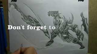 Pencil Drawing :  Soul Reaver Draven