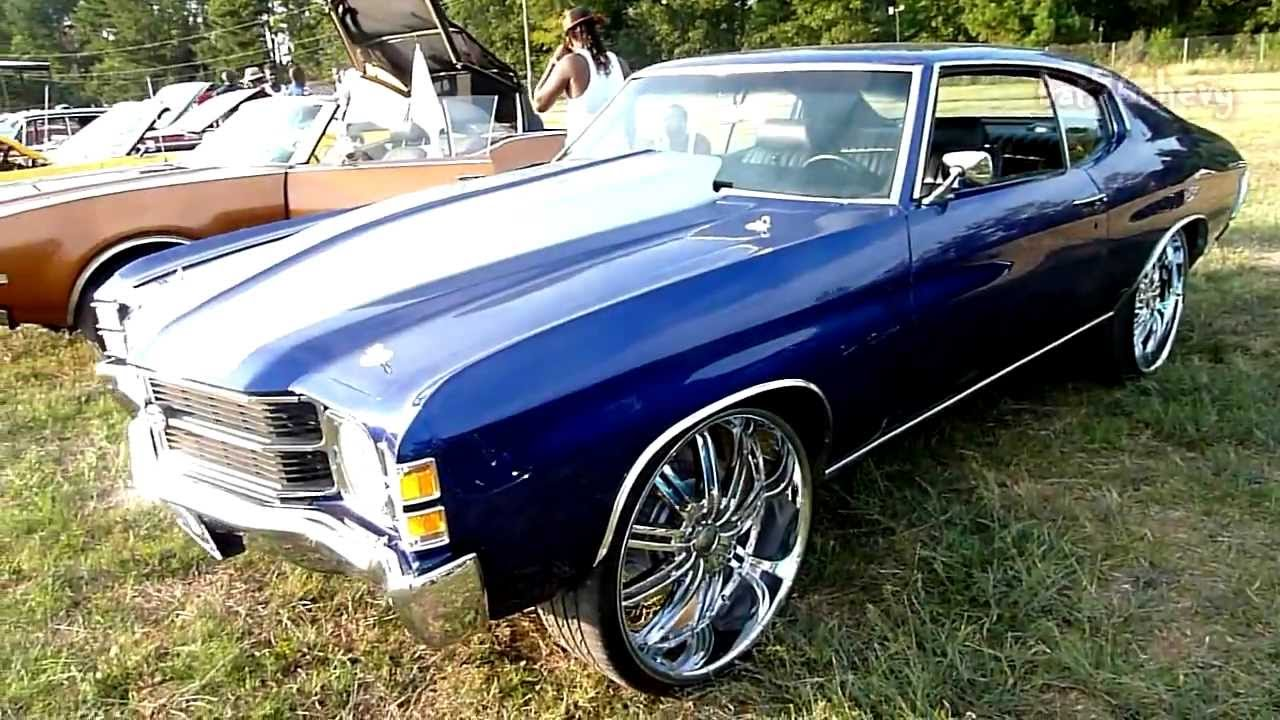 All Chevy 1971 chevrolet chevelle ss : 71 Chevy Chevelle SS on 24's - HD - YouTube