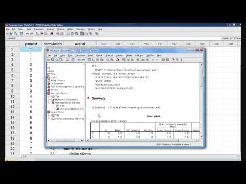A GUIDE TO ANALYZE SENSORY EVALUATION TEST DATA USING SPSS SOFTW
