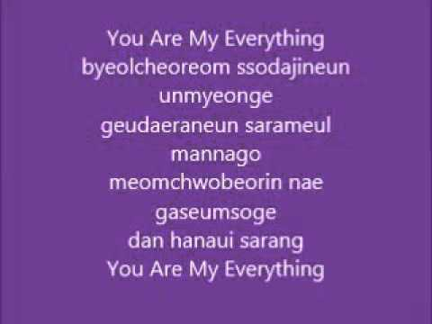 lyric ost Descendants of the sun  you are my everything  gummi