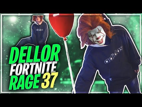 DELLOR FORTNITE MEGA RAGE 37 *PENNYWISE THE CLOWN COSPLAY😂*
