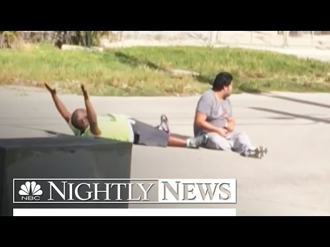 Video Shows Unarmed Caregiver With Hands Up Before Being Shot by Police | NBC Nightly News