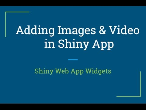 Shiny web app Tutorial | How to add videos and images in shiny | R  Programming Tutorial