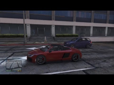GTA 5 AUDI R8 CRASH TESTING GAMEPLAY