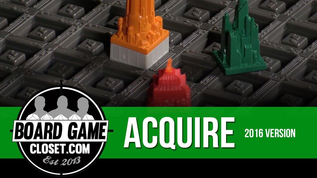 Acquire Board Game 2016 Version