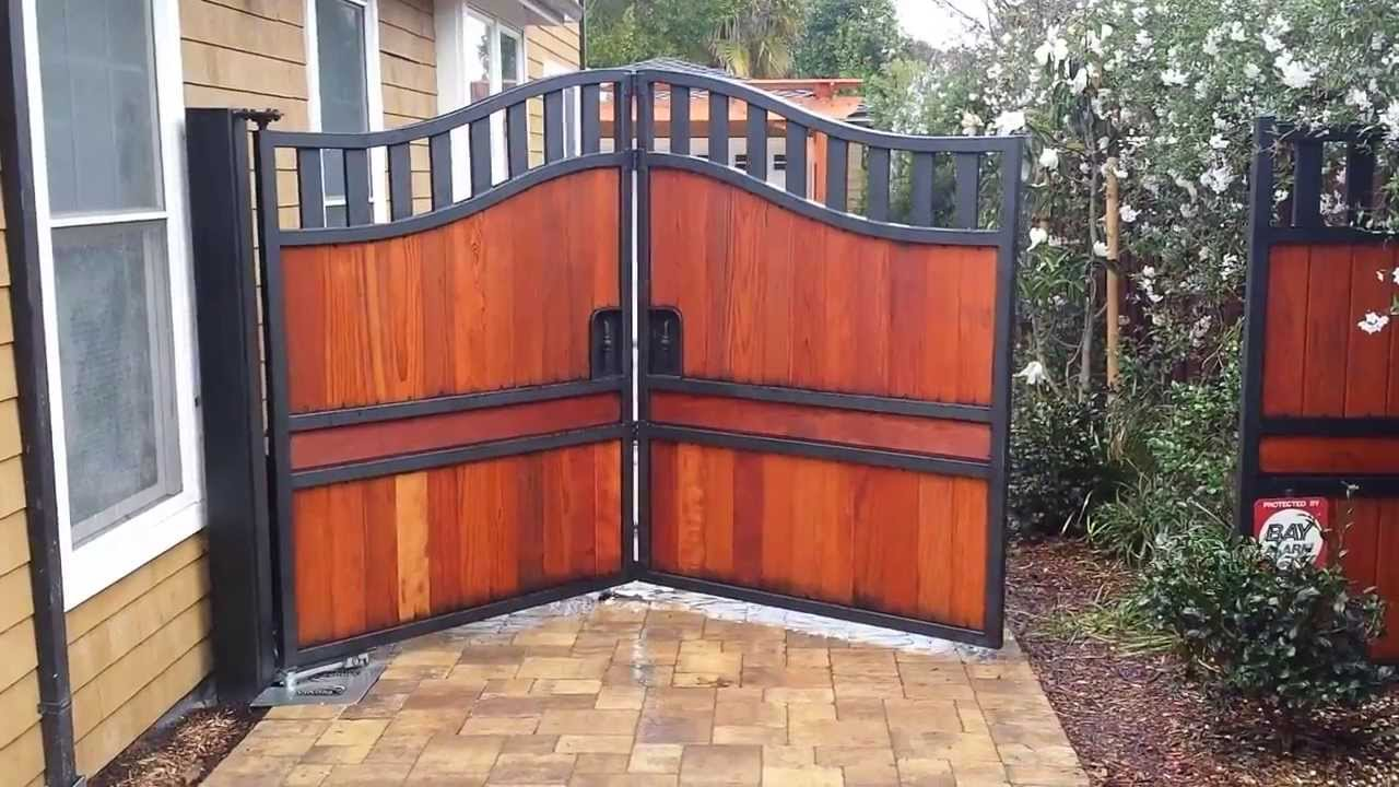 Trackless Bi Fold Gate Automatic Gate Bi Folding With In