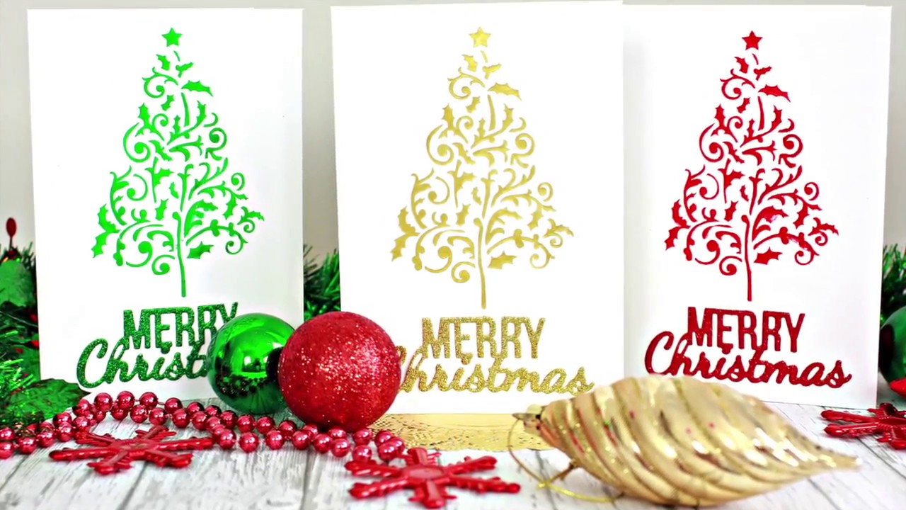 diy clean and simple christmas cards - Simple Christmas Cards
