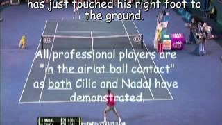 Nadal vs Cilic with Leg Drop Analysis