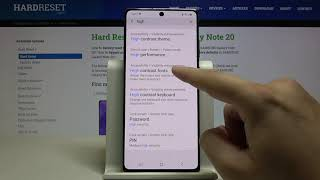 How to Activate High Contrast Text in SAMSUNG Galaxy Note 20 – Use High Contrast Text