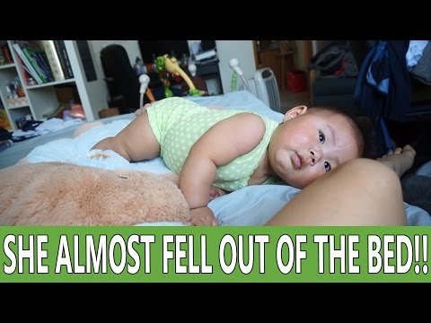 05312016: She Almost Fell Out of The Bed! | Vlog #893