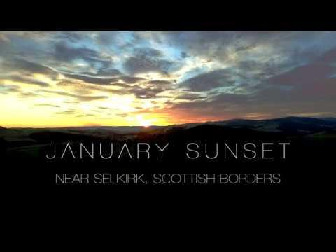 January Sunset - near Selkirk, Scottish Borders