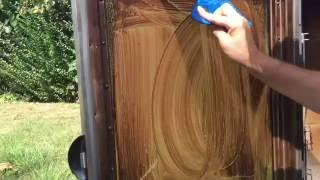 Cleaning the window of the Masterbuilt Smoker made simple.