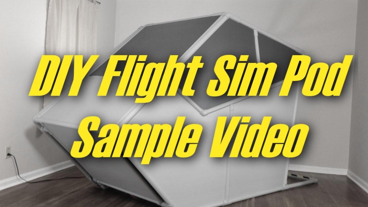 Sample Video: DIY Flight Sim Pod