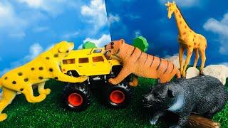 Мультик Дикие Животные Для Детей! Игрушечный Зоопарк!  Zoo Toy Animals!