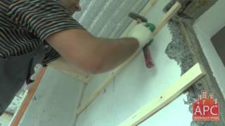 как сделать обрешетку под вагонку видео балкон