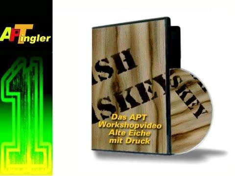 Airbrush Holz Eiche mit Wiskeystempel