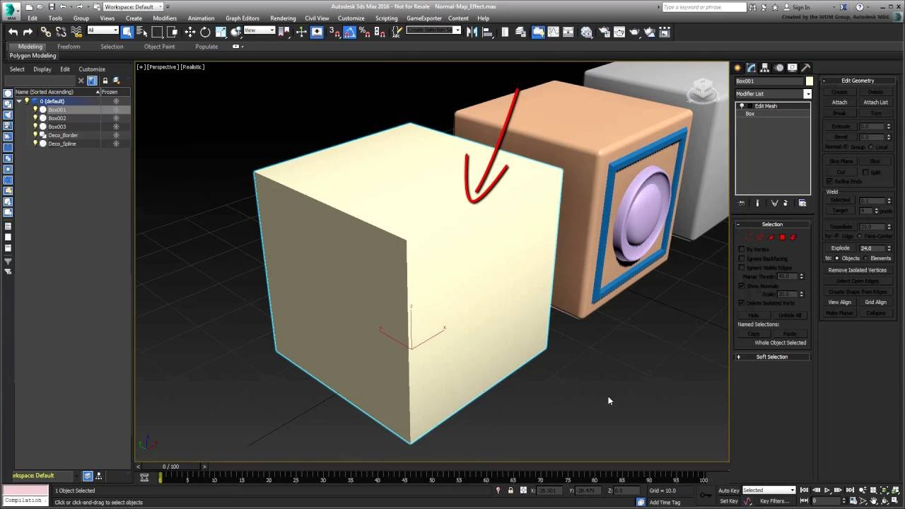 Using Normal Maps in 3ds Max - Part 1 - Introduction