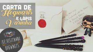 DIY: Carta de Hogwarts, sinete e lápis-varinha! #REvisitandoHogwarts (A Pedra Filosofal)