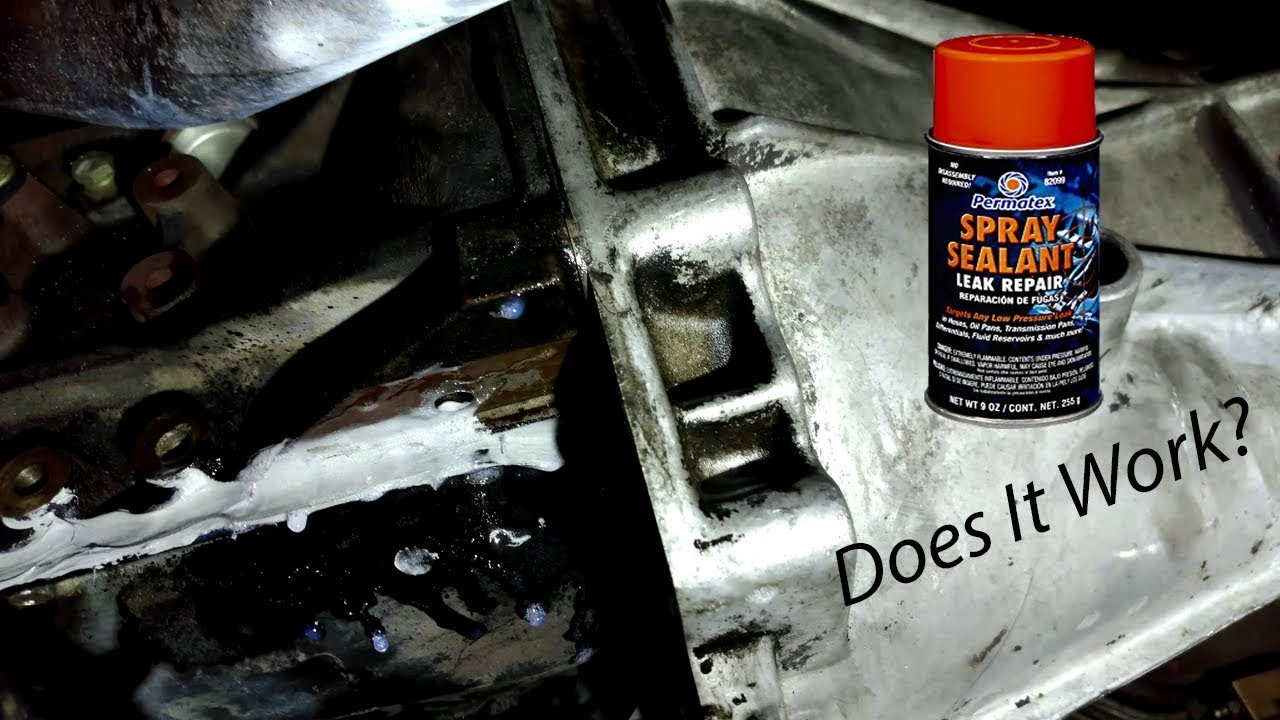 Permatex Spray Sealant Leak Repair >> Permatex Spray Sealant Test Oil Leak Youtube
