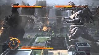 GODZILLA THE GAME:Godzilla,SpaceGodzilla, Super MechaGodzilla VS mode (PS4) online gameplay part 3
