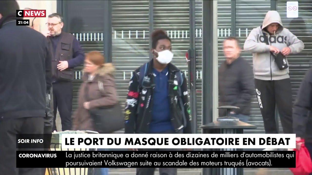 Le port du masque obligatoire en débat