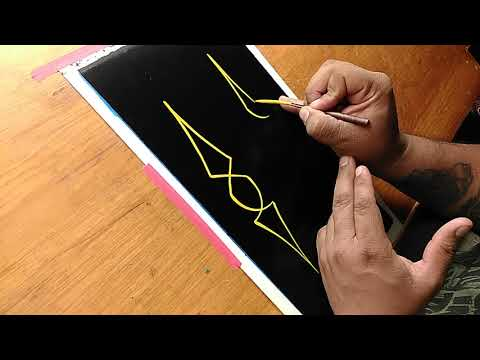 How To Pinstripe Simple Pinstriping Design 1 Youtube