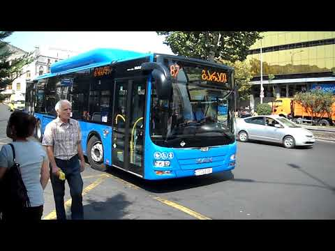 blue bus Tbilisi 2017